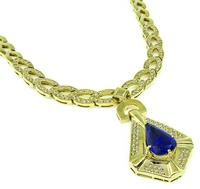 Estate 7.98ct Tanzanite 2.00ct Diamond Gold Necklace