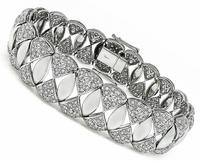 Estate 8.94ct Diamond Gold Bracelet