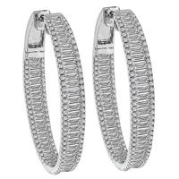Estate 4.00ct Diamond Inside Out Hoop Earrings