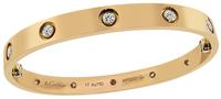 Estate Cartier 10 Diamond Pink Gold Love Bangle