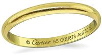 Estate Cartier Gold Wedding Band