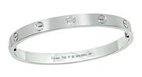Estate Cartier White Gold Love Bangle