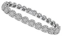Estate 6.50ct Diamond Gold Bracelet