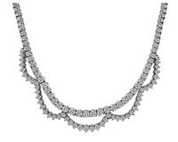 Estate 15.00ct Diamond White Gold Necklace