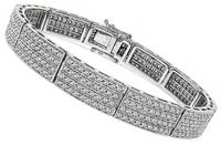 Estate 6.00ct Diamond Gold Bracelet