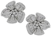Estate 2.00ct Diamond Flower Earrings