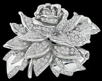 Estate 2.75ct Diamond Flower Pin