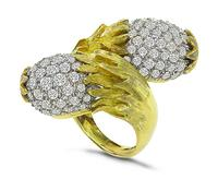 Estate 5.00ct Diamond Acorn Ring