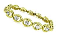Estate 4.00ct Diamond Gold Bracelet