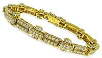 Estate 4.50ct Diamond Gold Bracelet
