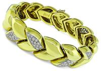 Estate 3.50ct Diamond Gold Bracelet