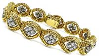 Estate 3.00ct Diamond Gold Bracelet