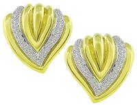 Estate 1.75ct Diamond Gold Earrings