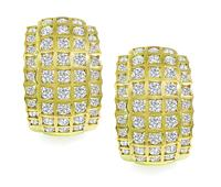 Estate 3.45ct Diamond Gold Earrings