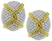 Estate 9.00ct Diamond Earrings
