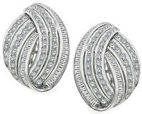 Estate 4.50ct Diamond Gold Earrings