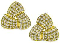Estate 4.00ct Diamond Gold Earrings