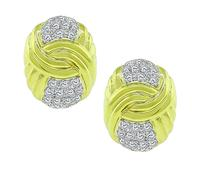 Estate 2.00ct Diamond Gold Earrings