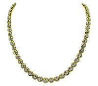 Estate 3.70ct Diamond Tennis Necklace