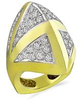 Estate 2.00ct Diamond Gold Fashion Ring