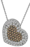 3.00ct Diamond 1.75ct Fancy Brown Diamond Necklace