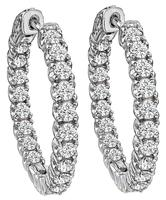 Estate 2.25ct Diamond Inside Out Hoops Earrings