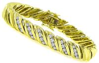 Jose Hess 2.00ct Diamond Gold Bracelet
