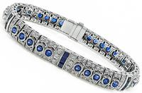 Estate 3.50ct Sapphire 2.25ct Diamond Bracelet