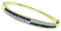 Estate 1.25ct Sapphire 0.80ct Diamond Bangle