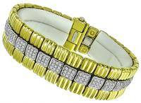 Estate Chimento Diamond Two Tone Gold Bracelet