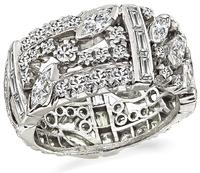 Art Deco 3.00ct Diamond Wedding Band