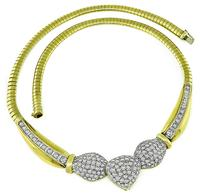 Estate 6.00ct Diamond Gold Necklace