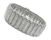 Estate 7.50ct Diamond Gold Bracelet
