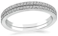 Estate 0.70ct Diamond Eternity Wedding Band Set