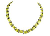 Estate 3.00ct Diamond Two Tone Gold Necklace