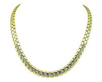 Estate 1.10ct Diamond Gold Chain Necklace