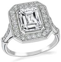 Estate EGL Certified 1.94ct Diamond Engagement Ring