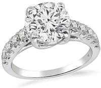 Estate EGL Certified 2.07ct Diamond Engagement Ring