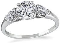 Estate GIA Certified 1.00ct Diamond Engagement Ring