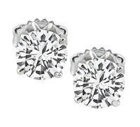 Estate GIA Certified 1.01ct and 1.01ct Diamond Stud Earrings