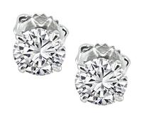 Estate GIA 1.05ct and 1.03ct Diamond Stud Earrings