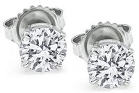 Estate GIA Certified 1.06cttw Diamond Stud Earrings