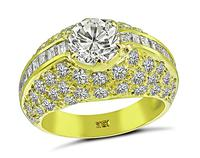 Estate GIA Certified 1.07ct Diamond Gold Engagement Ring