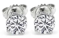 GIA Certified 1.41cttw Diamond Stud Earrings