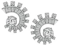 Estate GIA Certified 1.83ct Diamond Earrings