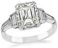 Estate GIA Certified 1.97ct Diamond Engagement Ring