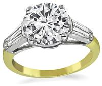 Estate GIA Certified 2.00ct Diamond Engagement Ring