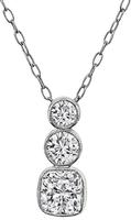 GIA Cert 1.00ct Diamond 0.50ct Diamond Pendant Necklace