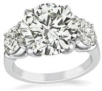 Estate GIA Certified 5.01ct Diamond Engagement Ring