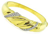 Estate 1.00ct Diamond Gold Bangle